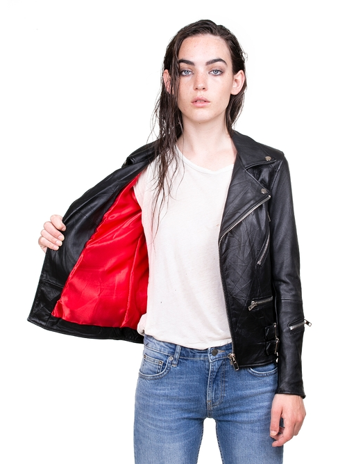 7f41b3ede132 Deadwood - Vinnie Recycled Leather Jacket - Ecosphere Brand